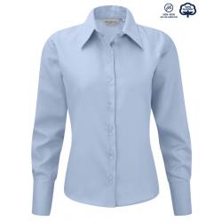 Camisa Sin Plancha Manga Larga Mujer 100% Algodón The Non Iron Co.