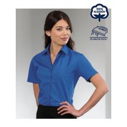 Camisa Mujer Plancha fácil Manga Corta Popelin 100% Algodón THE NON IRON COMPANY EASY CARE