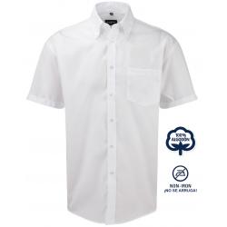 Camisa Hombre Sin Plancha Manga Corta 100% Algodón THE NON IRON COMPANY ¡No se arruga!