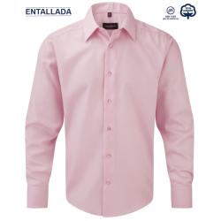 Camisa Hombre Sin Plancha Manga Larga Entallada 100% Algodón THE NON IRON COMPANY