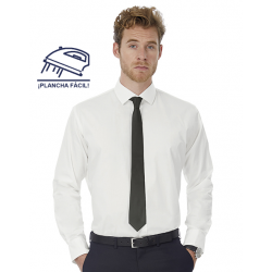 Camisa Popelina Elastán Black Tie ML Hombre Manga Larga Easy Care