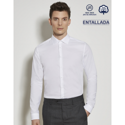 Camisa Hombre Sin Plancha Manga Larga 100% Algodón SLIM FIT SEIDENSTICKER ¡No se arruga!