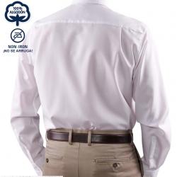 Camisa Hombre Sin Plancha Manga Larga 100% Algodón Cuello Americano ¡No se arruga! SEIDENSTICKER