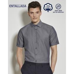 Camisa Hombre Sin Plancha Manga Corta TAILORED 100% Algodón Cuello Kent   ¡No se arruga! SEIDENSTICKER