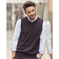 Chalecode Punto Cuello V de Punto Pico Sweater sin mangas Easy Care Cottonblend Fácil Cuidado